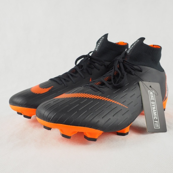 low priced 2f471 bccb8 Nike Soccer Cleats Superfly 6 Pro FG Black Oran 11